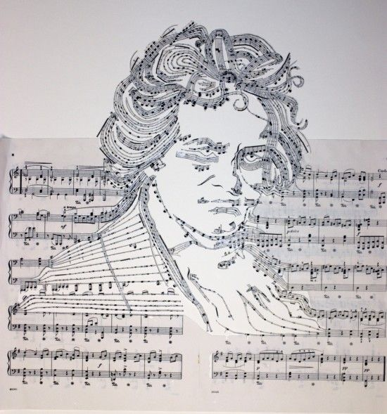 Music Sheet Collages by Erika Iris Simmons, Il Supremo