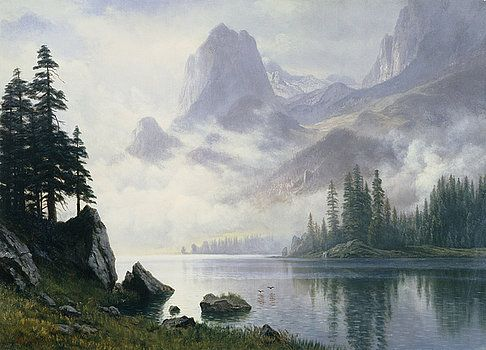 Albert Bierstadt - Mountain out of the Mist