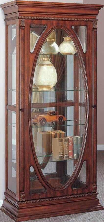 becka cherry wood glass curio cabinet w light acme furniture collections pinterest glass. Black Bedroom Furniture Sets. Home Design Ideas
