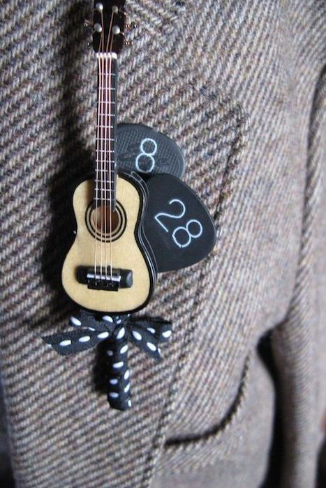 That's adorable! With the abundance of love songs out there, hit the right note with a wedding inspired by music.: