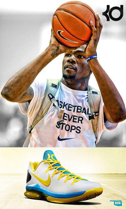 Kevin Durant Nike Oklahoma City KD V Elite Shoes
