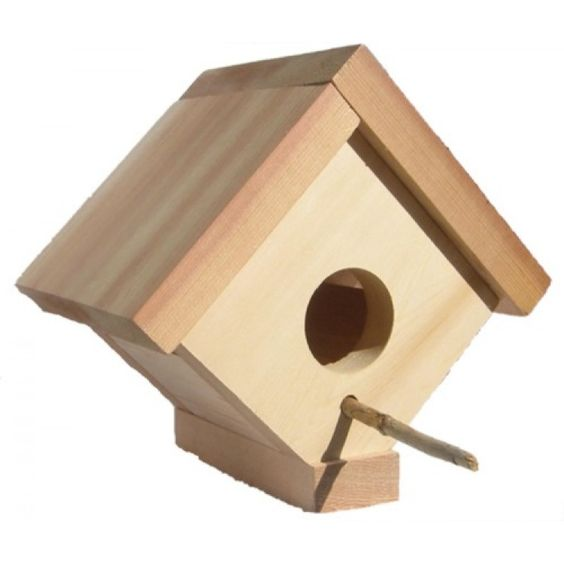 This Cedar Wren Birdhouse is a cozy retreat, designed with the natural cedar look.  This is the ideal size for your little garden friends, such as wrens, and other small birds.  Beautifully handcrafted, made from clear aromatic western red cedar which is naturally resistant to rot, insects, and decay, making it a perfect home for your favorite small birds #smallbirdhouse