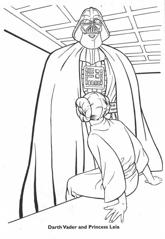 darth vader and princess leia art therapy pinterest princess leia darth vader and adult coloring - Princess Leia Coloring Pages