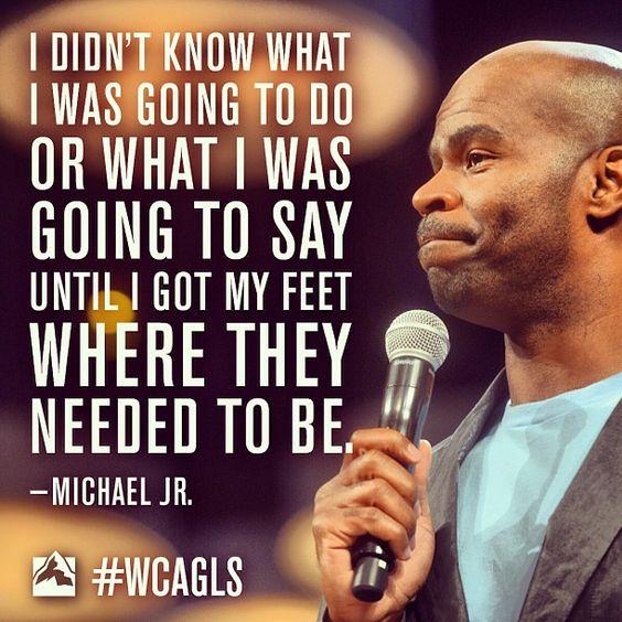 Comedian Michael Jr. at #WCAGLS 2013 Willow Creek Global Leadership Summit