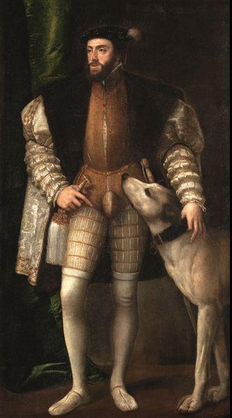 By Tiziano Vecellio, 1 5 3 3, Carlo V stante col suo cane. Madrid, Museo Nacional del Prado © Museo del Prado (R o m e, Scuderie del Quirinale until June 6, 2013)