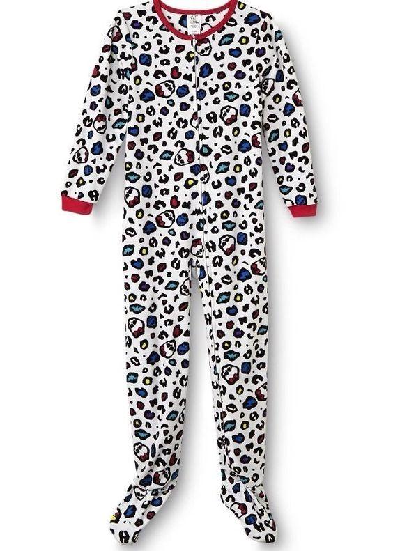 Girls Footed Pajamas Size 7 Breeze Clothing