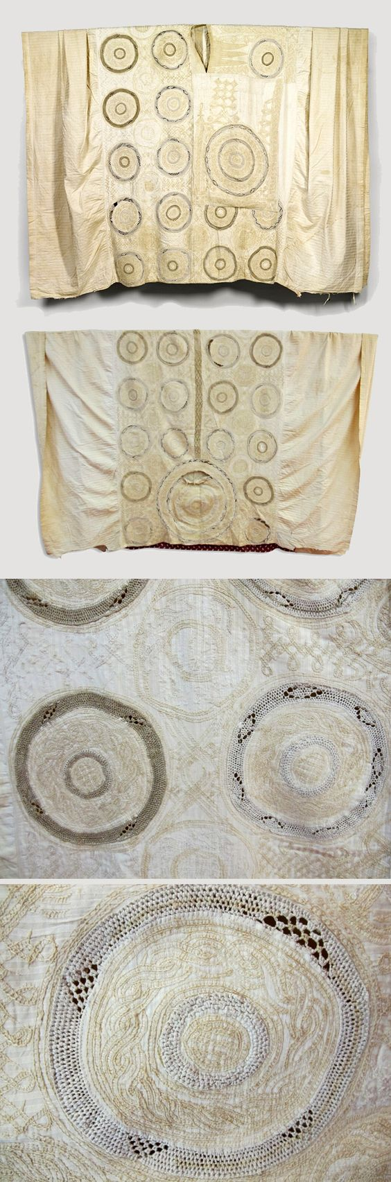 Africa   Tunic ~ Girke ~ from the Fulani people of Cameroon   Embroidered cotton   ca. prior to 1972 // 70.2012.31.149