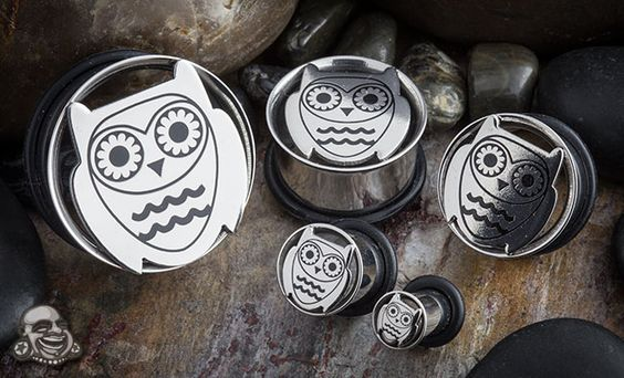 Owl plugs.... If only my ears were stretched.