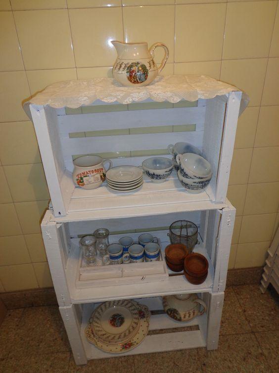 Mueble reciclado para guardar vajilla pyo pinterest - Vajilla shabby chic ...
