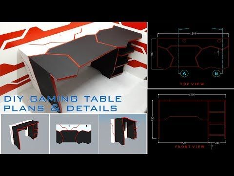 165 Diy Gaming Desk Using Basic Tools Plans And Details Youtube Gaming Desk Plans Gaming Desk Diy Gaming Desk