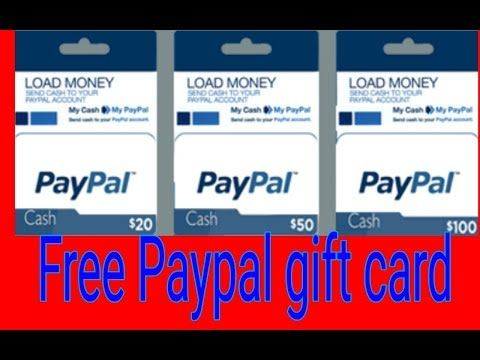 Free Paypal Gift Card New Update Paypal Codes 100 Real Youtube Paypal Gift Card Gift Card Generator Get Gift Cards