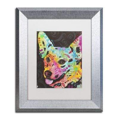 """Trademark Art """"4"""" by Dean Russo Matted Framed Painting Print Size:"""