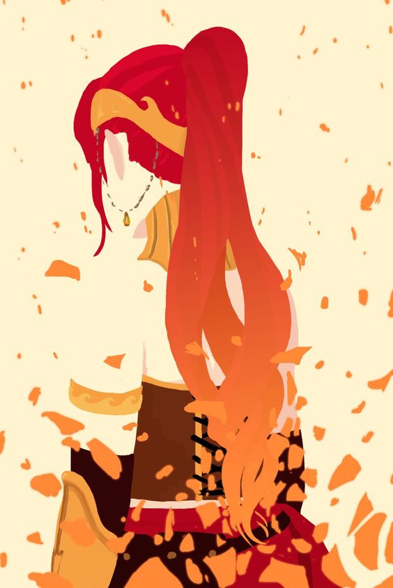 Pyrrha Nikos (has anyone else noticed that her death looks like a combo between ruby's rose petals and a spartans death by forerunner weapons (halo)?