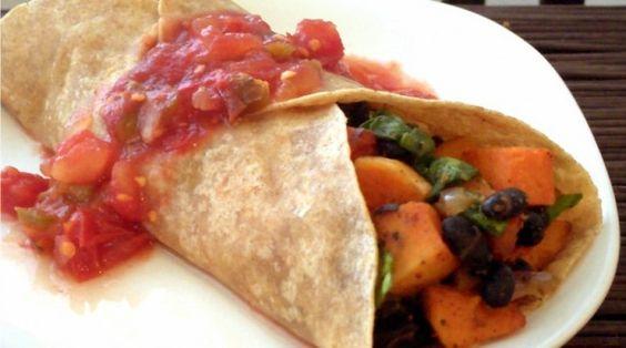 Butternut Squash & Black Bean Burritos