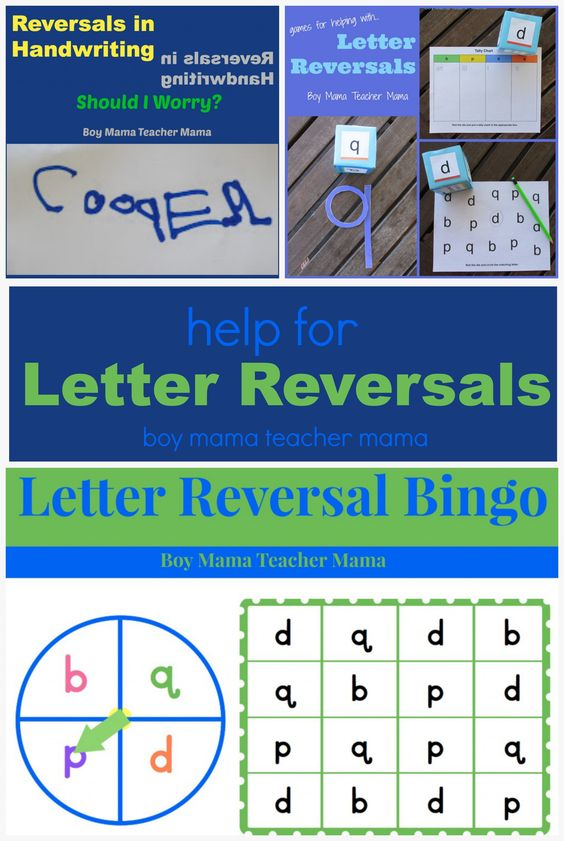 Teacher Mama: Help for Letter Reversals {After School Linky)
