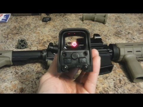 EOTech Holographic Sight Unboxing and Overview (Holo Sight vs Red Dot Sight) - YouTube