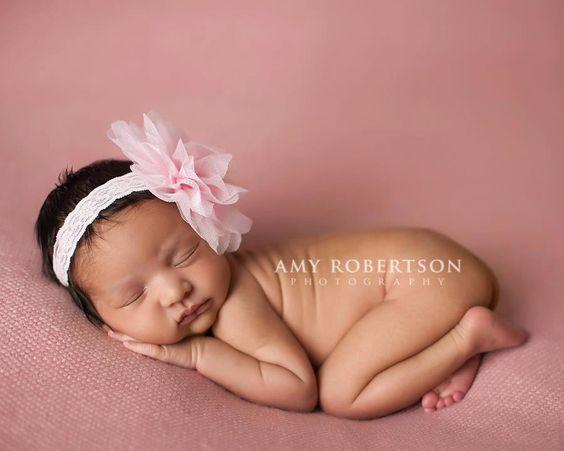 Baby Headbands..Newborn Headband.Baby Girl Headband..Pale Pink Tulle Poof Flower Headband.Baby Headband..Baby Bow Headbands..Many Colors. $9.15, via Etsy.