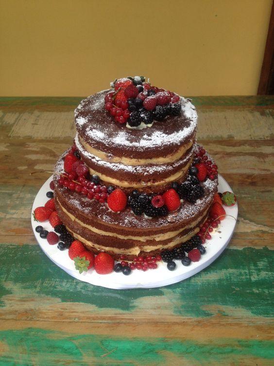 Naked Cake! Frutas Vermelhas