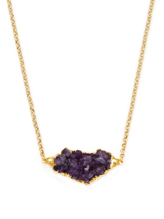Damia Pink Fire Agate Pendant Necklace from Natural Stones Feat. Janna Conner on Gilt