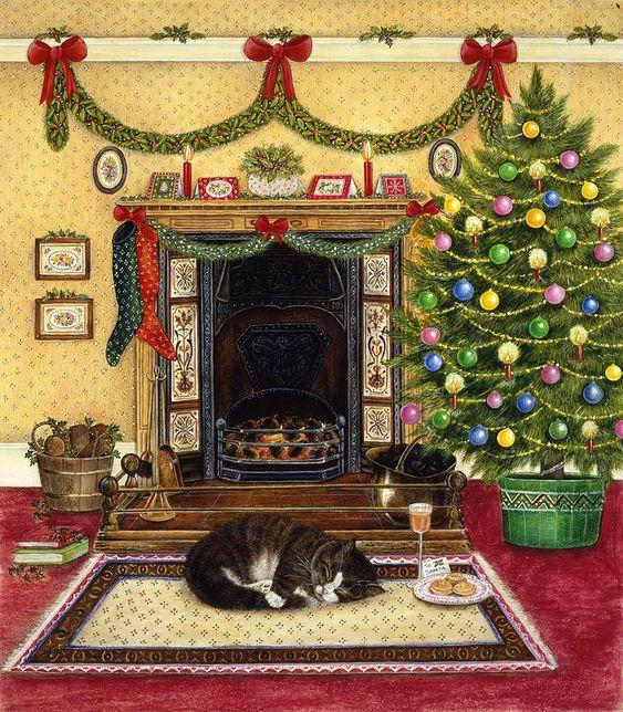 Anne Mortimer  — Waiting For Santa (787x900):