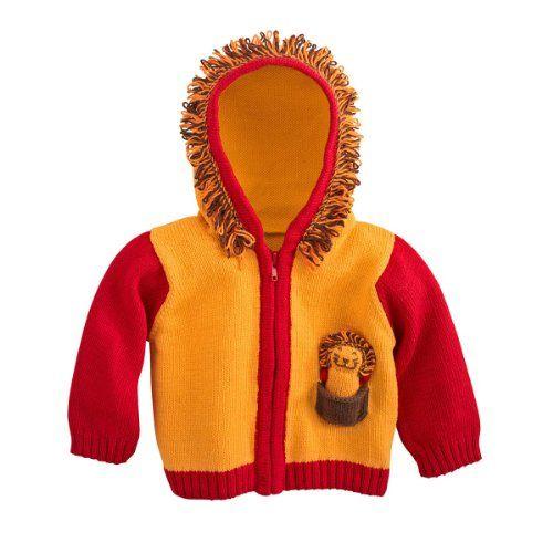 Fair Indigo Joobles Roar the Lion Baby Organic Cardigan