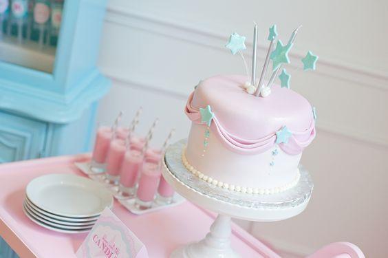 Feminine, sweet party cake