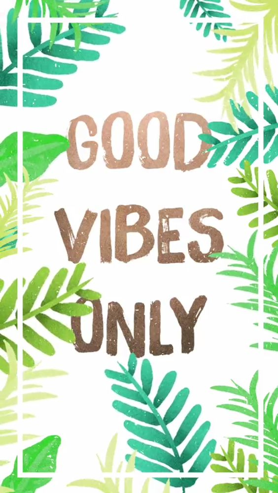 Good vibes summer wallpaper: