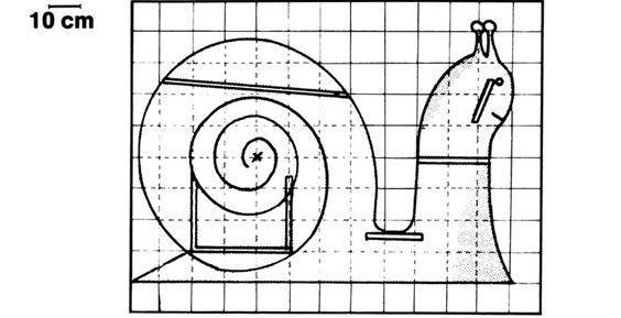 Schéma du bureau escargot pour enfant