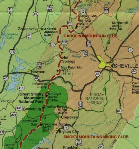 Appalachian Trail Asheville And Asheville North Carolina