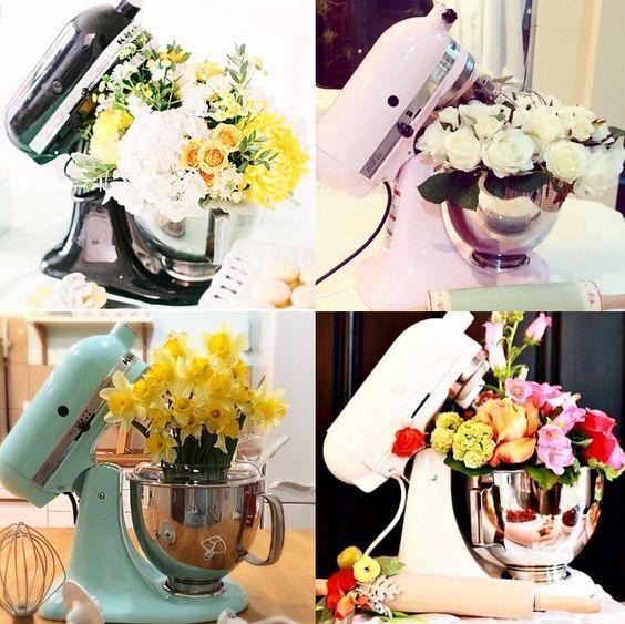 Kitchen Mixer Bride ~ Kitchenaid and flowers pinterest