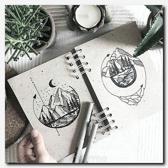 Tattoodesign Tattoo Best Tattoos Black And White Simple Cool Tattoo Designs Cute Star Ta Mountain Tattoo Design Half Sleeve Tattoos Designs Mountain Tattoo
