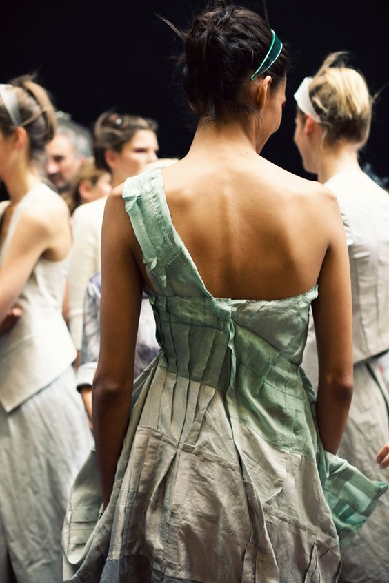 by Jamie Beck - From Me To You taken behind the scene at the Donna Karen spring show 2013