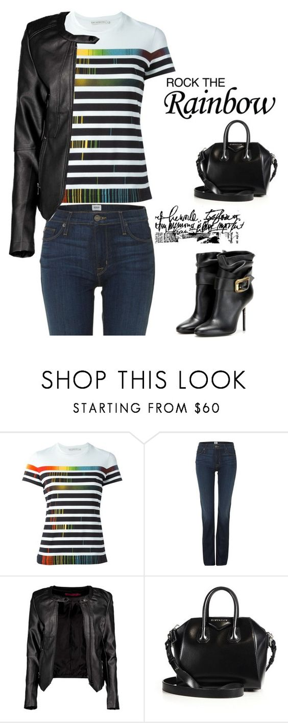 """Rock the Rainbow"" by tawnee-tnt ❤ liked on Polyvore featuring Mary Katrantzou, Hudson Jeans, Boohoo, Givenchy, Burberry, women's clothing, women's fashion, women, female and woman"