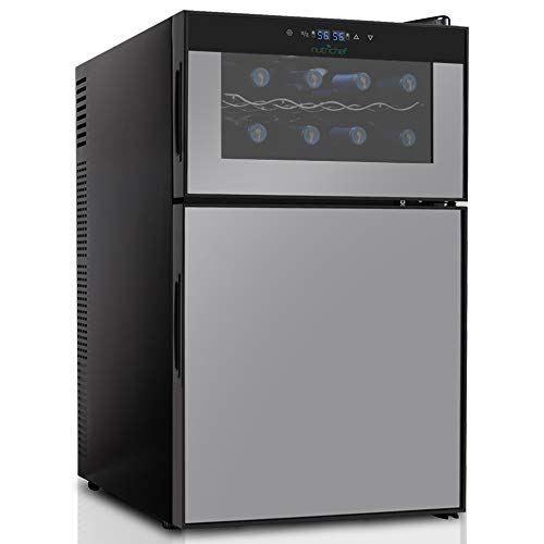 Nutrichef Wine Cooler And Mini Fridge Two Door Best Offer Wine Fridge Beverage Fridge Beverage Refrigerator