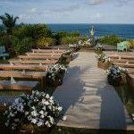 Final de tarde lindo, por do sol no fundo do altar.. com o mar a vista!