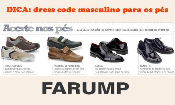 """O chamado """"Dress Code""""se trata de um código de referência de como se vestir em cada ocasião, porém ele pode causar muitas dúvidas no universo masculino, inclusive quanto aos calçados. Veja algumas dicas para não errar!"""