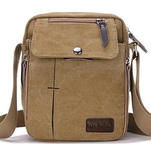 Father/'s day Men/'s Vintage Canvas Satchel School Shoulder Bag Messenger Bag