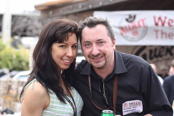 The lovely @cmajor (& some guy named @mpace101) at 2011 #AllHat
