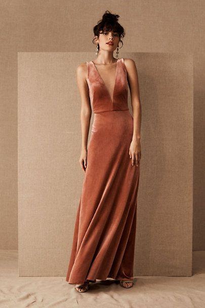 Jenny Yoo Logan Velvet Dress In 2020 Velvet Bridesmaid Dresses Jenny Yoo Bridesmaid Rust Bridesmaid Dress