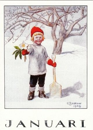 Elsa Beskow~ so fresh and rosie cheek wintery sweet!: