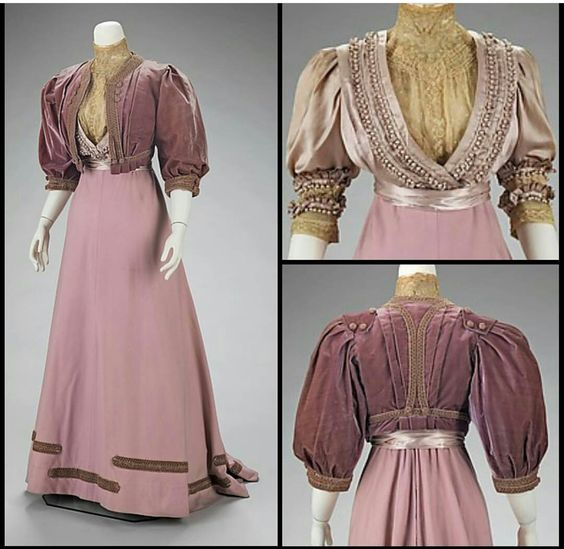 Afternoon suit. Made of wool and silk. 1906-1908