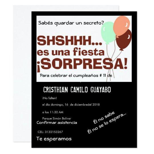 Invitación Fiesta Sorpresa Zazzle Com Invitaciones De