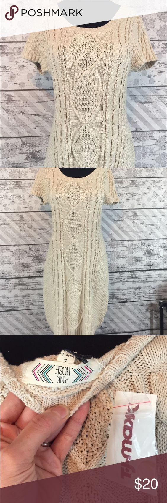 NWT sweater dress. Cream Colored NWT