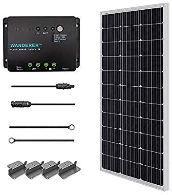 Amazon Com Renogy 100 Watts 12 Volts Monocrystalline Solar Starter Kit W 100w Solar Panel 30a P Solar Panels Solar Panel Calculator Solar Power Calculator