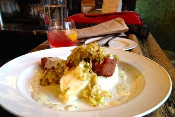 Corned Beef & Cabbage with mash and parsley sauce