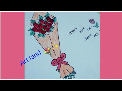 رسم باقه ورد أحمر جميل و سهل خطوة بخطوة Draw Rose Bouquet Youtube Roses Drawing Rose Bouquet Art