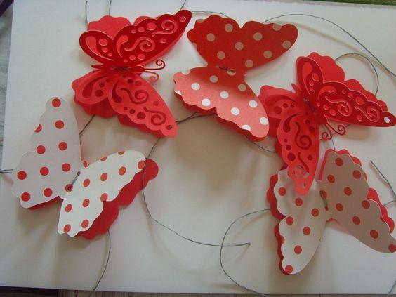 Decoracion con mariposas caladas buscar con google - Como hacer mariposas de papel para decorar paredes ...