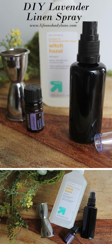 DIY Lavender Linen Spray via Life on Shady Lane blog