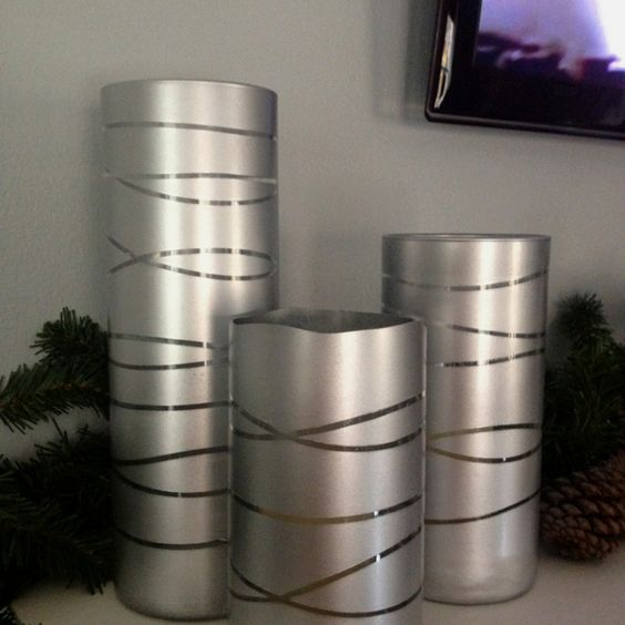 Spray paint vases sprays and glasses on pinterest Spray paint for metal