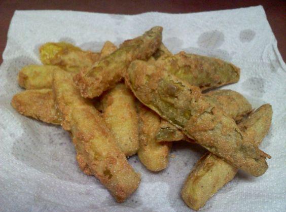 Fried Dill Pickle Spears - www.justapinch.com
